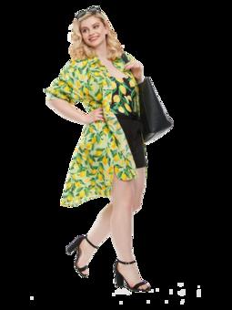 Wesoła sukienka koszulowa Cytryny