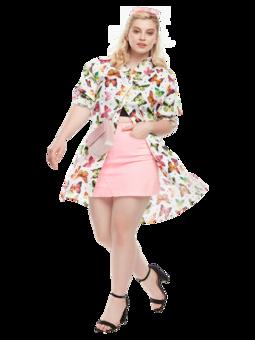 Shirt Dress Colourful Butterflies