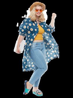 Veselé košilové šaty Květ sedmikrásky