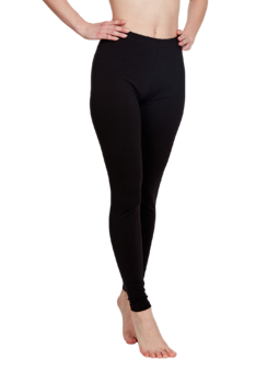 Zwarte katoenen leggings