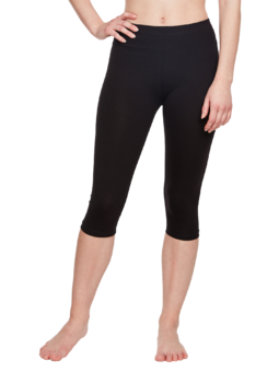 Cotton 3/4 Leggings Black