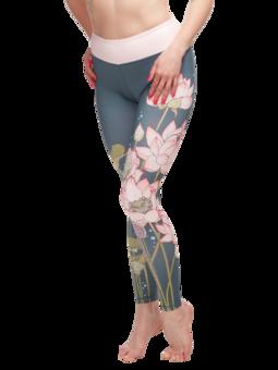 Wesołe legginsy sportowe Różowy lotos