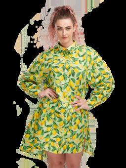 Živahna srajčna obleka Limone