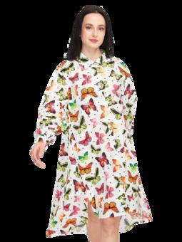 Veselé košeľové šaty Farebné motýle