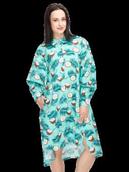 Veselé košeľové šaty Kokosový orech