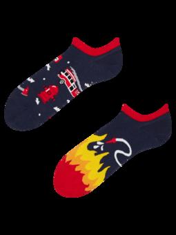 Wesołe skarpetki do sneakersów Strażak