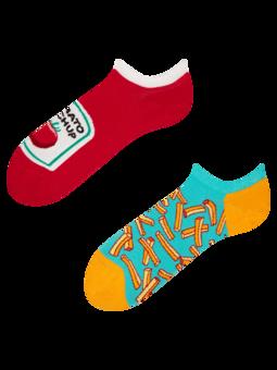 Calcetines sneakers alegres Patatas fritas con kétchup