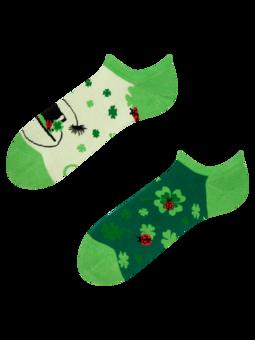 Veselé ponožky do tenisiek Štvorlístok pre štastie