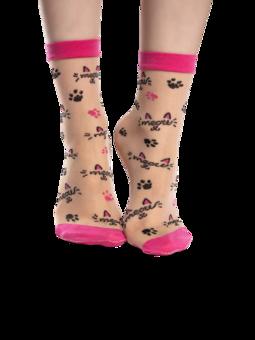 Весели найлонови чорапи Мяу
