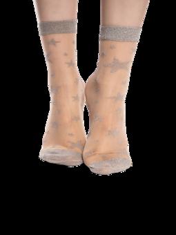Veselé silonkové ponožky Stříbrné hvězdy