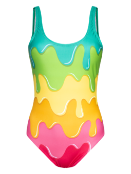 Women's One-piece Swimsuit Color Splash