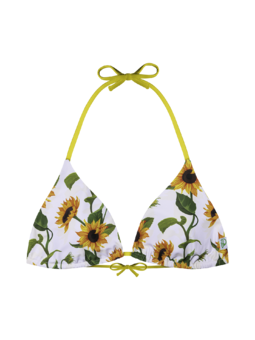 Wesoły trójkątny top od bikini Słonecznik