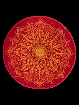Wesoły okrągły ręcznik plażowy mandala