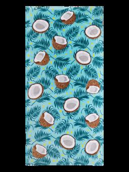 Veselý plážový uterák Kokosový orech