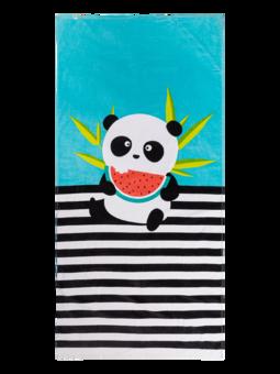 Veselý plážový ručník Panda na dovolené
