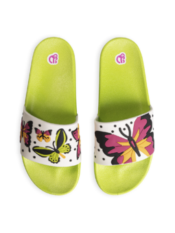 Veselé pantofle Barevní motýli