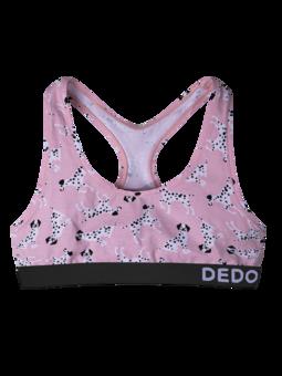 Vrolijke dames bralette Roze dalmatiërs