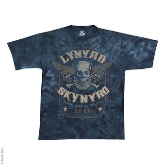 Modré batikované hudební tričko Lynyrd Skynyrd Gimme back my bullets