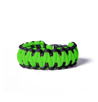 Paracord Survival Armband - Verschluss - grünschwarz