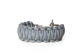 Paraflex Survival Armband King Cobra Reflex grau mit einstellbarem Verschluss