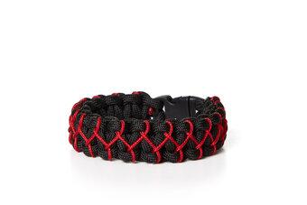 Paramicord túlélési karkötő Kobra X fekete-piros