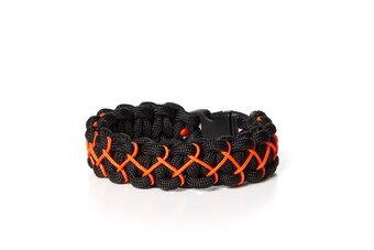 Bransoletka przetrwania Paramikord Kobra X czarno-pomarańczowa