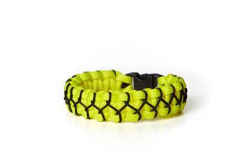 Paramicord Survival Armband Kobra X gelb-schwarz
