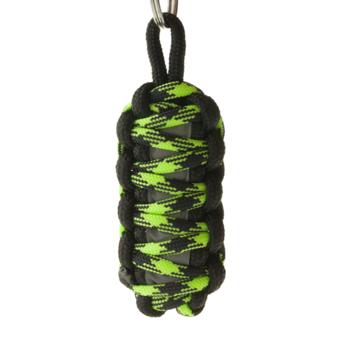 King Cobra Reflektierender Paracord Schlüsselanhänger - grün-schwarz