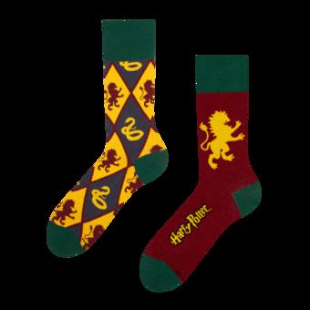 Chaussettes rigolotes Harry Potter ™ Gryffondor vs Serpentard