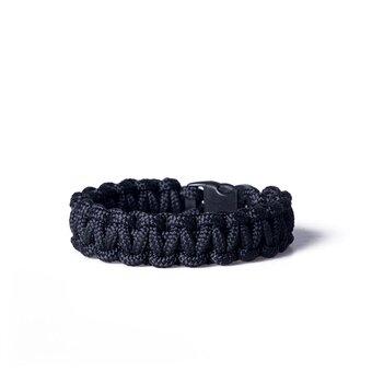 Paracord Überleben-Armband schwarz