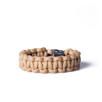 Paracord Überleben-Armband sandbeige