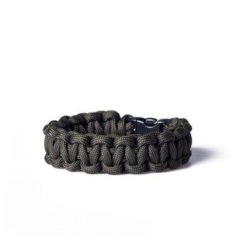 Paracord Überleben-Armband dunkelgrün
