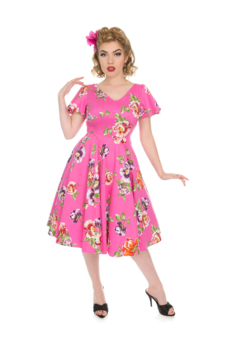 Vintage Pin Up Kleid Ich liebe Swing