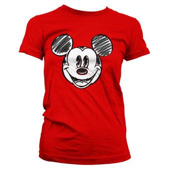 Ženska majica Nacrtana glava Mickey Mouse