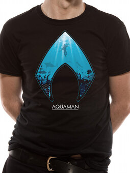 Tričko Aquaman movie - Logo and symbol