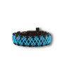 Black & Blue Paracord Bracelet GalaxyWith Fire Starter, Compass and Whistle