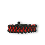Black & Red Paracord Bracelet SharkWith Fire Starter, Compass and Whistle