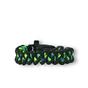 Bracelet en paracorde noir et vert Shark avec allume-feu, boussole et sifflet