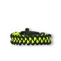Black & Yellow Paracord Bracelet Shark  With Fire Starter, Compass and Whistle
