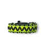 Black & Yellow Paracord Bracelet Viper With Fire Starter, Compass and Whistle