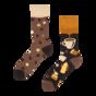 Vrolijke bamboe sokken Koffiebonen