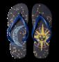 Vrolijke Flip Flops - Zon en Maan