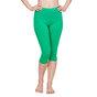 Cotton 3/4 Leggings Green