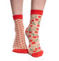 Nylon Socks Cherries & Dots