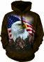 Mikina s kapucňou Profil amerického orla