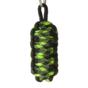 Reflective Paracord Survival Key Chain King Cobra - Green and Black