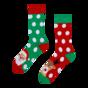 Весели топли чорапи Санта и Рудолф