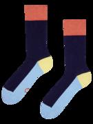 Temno modre nogavice Tribarvnice