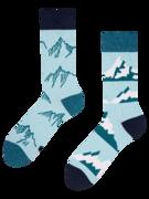 Veselé ponožky z recyklovanej bavlny Zasnežené kopce