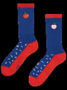 Veselé sportovní ponožky Jablko s posypem